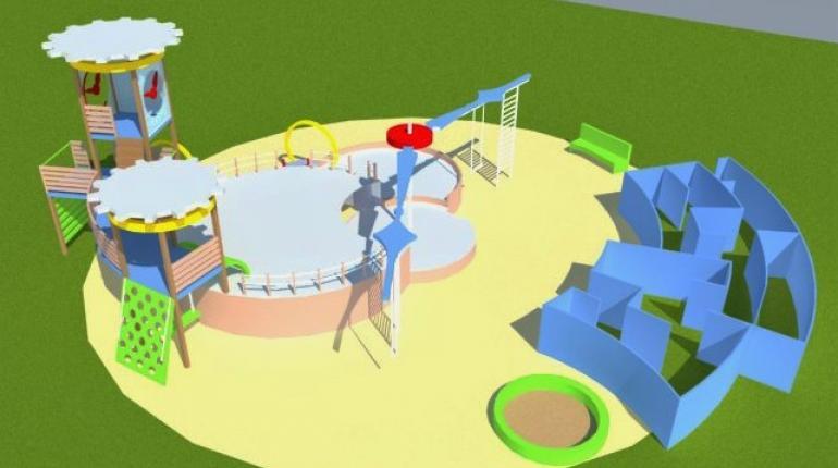 Детская площадка «Часы»